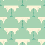 Restaurant Vintage Tables Seamless Pattern Royalty Free Stock Image