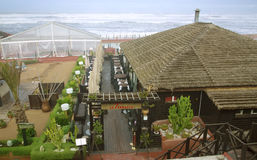 Restaurant and visit bars in boulevard de la Corniche in Casablanca Royalty Free Stock Images