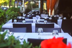 Restaurant without visitors stock image