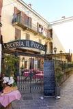 Restaurant von Menaggio, Italien Lizenzfreies Stockbild