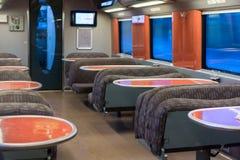 Restaurant wagon of high speed train Royalty Free Stock Photo