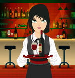 Restaurant waiter Royalty Free Stock Photos