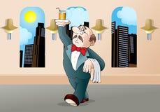Restaurant waiter cartoon Stock Image
