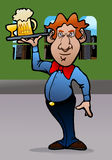 Restaurant waiter cartoon Stock Photography