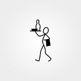 Restaurant waiter, cook stick figure Stock Photography