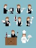 Restaurant and waiter Stock Image
