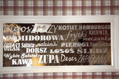 Restaurant wall in the Kazimierz District in Krakow Poland Royalty Free Stock Photography