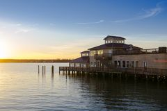 Restaurant on the water. Chesapeake Bay royalty free stock photography
