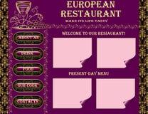 Restaurant website design Royalty Free Stock Images