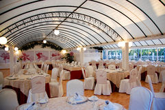Restaurant for wedding Royalty Free Stock Images