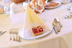 Restaurant wedding table Stock Photography