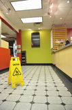 Restaurant Wet Floor Sign Royalty Free Stock Images