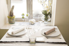 Restaurant. In a whitish style Stock Photos