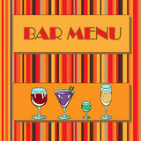 Restaurant or wine bar menu design. Royalty Free Stock Photography