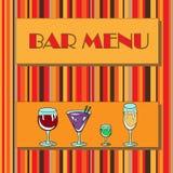 Restaurant or wine bar menu design. Royalty Free Stock Photography