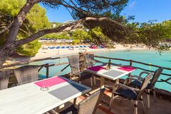 Free Restaurant With A View Of The Beach In Cala Galdana Resort Stock Photography - 171334282