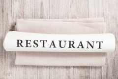 Restaurant written Stock Images