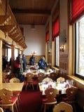 Restaurant in Zermatt, die Schweiz Stockbild