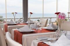 Restaurantbinnenland Royalty-vrije Stock Afbeeldingen