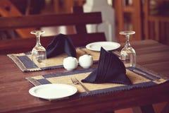 Restaurantdecor Stock Afbeelding