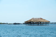 Restaurante που στηρίζεται στο νερό στο Ελ Σαλβαδόρ Στοκ Εικόνες