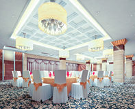 restaurante 3d moderno Fotos de Stock