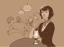 Restaurante ilustração royalty free