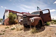 Restaurante abandonado en la ruta 66 imágenes de archivo libres de regalías