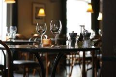 Restaurante acogedor Foto de archivo libre de regalías