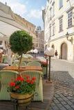 Restaurante acogedor de la calle Imagen de archivo libre de regalías