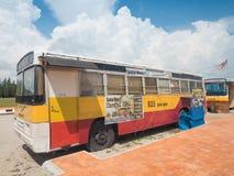 Restaurante adaptante del autobús viejo Fotos de archivo