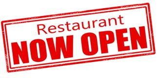 Restaurante ahora abierto ilustración del vector