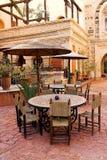 Restaurante al aire libre árabe Foto de archivo libre de regalías