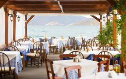 Restaurante al aire libre Fotografía de archivo libre de regalías