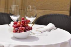 Restaurante al aire libre Imagen de archivo libre de regalías