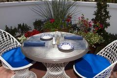 Restaurante al aire libre del patio Fotografía de archivo libre de regalías