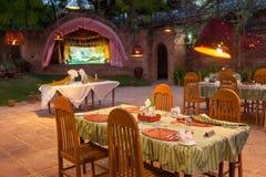 Restaurante ao ar livre Fotos de Stock Royalty Free