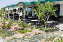Restaurante ao ar livre imagens de stock royalty free