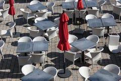 Restaurante ao ar livre imagem de stock