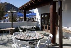 Restaurante ao ar livre do pátio Imagens de Stock
