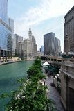 Restaurante ao ar livre do pátio em Chicago Imagem de Stock