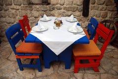 Restaurante ao ar livre italiano Foto de Stock Royalty Free