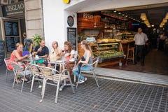 Restaurante Barcelona cuarta gótica Foto de archivo libre de regalías