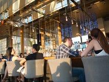 Restaurante, barra & restaurantes Imagens de Stock