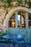 Restaurante bonito em uma vila francesa Imagem de Stock Royalty Free