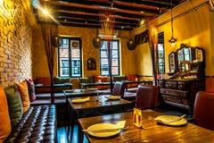 Restaurante cómodo del ambiente foto de archivo