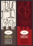 Restaurante, café o barra, diseño del menú Fotos de archivo