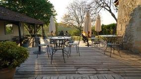 Restaurante in Castres-Gironde, France Stock Photos