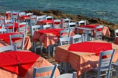 Restaurante cerca del mar Fotografía de archivo libre de regalías
