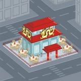 Restaurante chino ilustración del vector